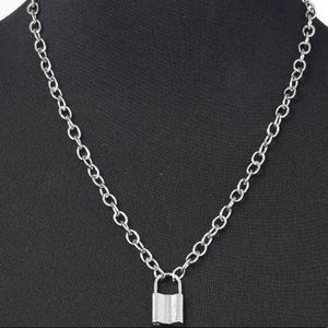 Lock Pedant Necklaces   Silver